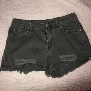 Bullhead grey denim shorts